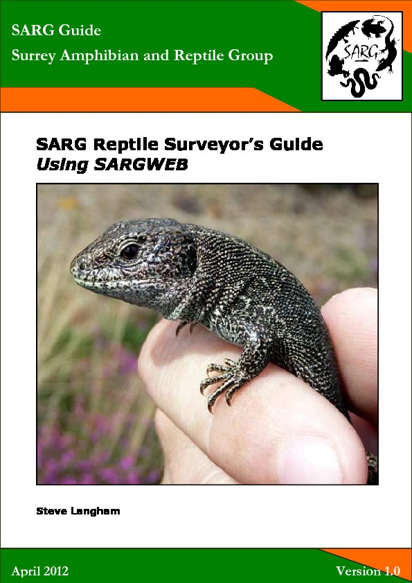 Reptile Surveyors Guide To SARGWEB